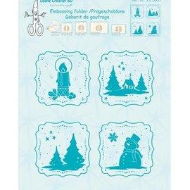 embossing Präge Folder Emboss.templ, embossed Winter frame
