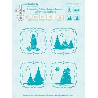 embossing Präge Folder Basteln für Weihnachten, Prägeschablone, geprägte Winter Rahmen