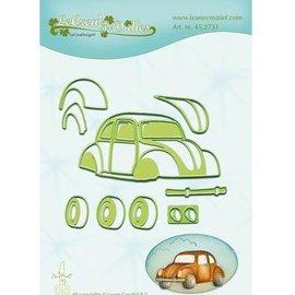 Leane Creatief - Lea'bilities und By Lene Troquelado y estampado en relieve plantilla: Auto, escarabajo