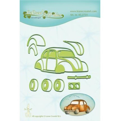Leane Creatief - Lea'bilities und By Lene Punching and embossing template: Auto, beetle