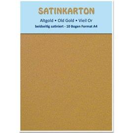 "Karten und Scrapbooking Papier, Papier blöcke Satén de cartón A4, ""oro viejo"""