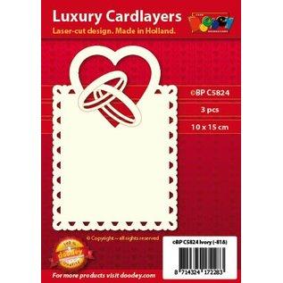 KARTEN und Zubehör / Cards Luxe kaart lay-out: set van 3