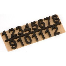 Embellishments / Verzierungen números autoadhesivos conjunto 1 t / m 12, Negro