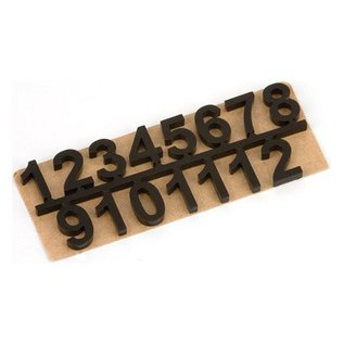 Embellishments / Verzierungen Self-adhesive numbers set 1 t / m 12, Black