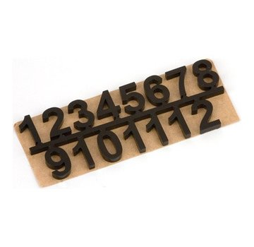 Embellishments / Verzierungen numeri autoadesive set 1 t / m 12, Nero