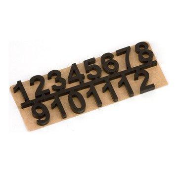 Embellishments / Verzierungen Self-adhesive numbers set 1 t / m 12, Black