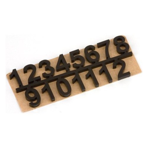 Embellishments / Verzierungen numéros autocollantes set 1 t / m 12, Noir