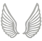 Embellishments / Verzierungen Metal Wing, 3 stykker