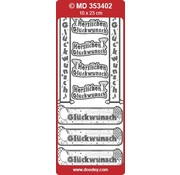 Sticker Ziersticker deutsche Text Banners
