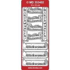 Ziersticker German text banner