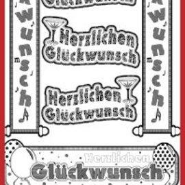 Sticker Ziersticker deutsche Text Banners