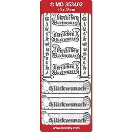 Sticker Ziersticker texte allemand bannière