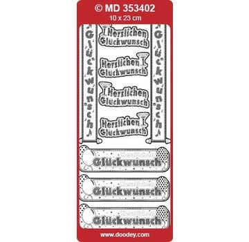 Sticker Ziersticker testo banner tedesco