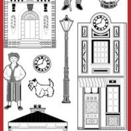 Sticker Ziersticker mit victorianische Motive, silber