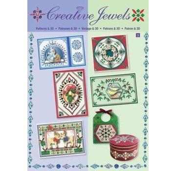 Bücher, Zeitschriften und CD / Magazines Creative template Jewels & 3D boek