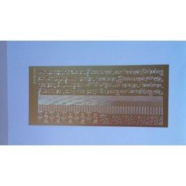 STICKER / AUTOCOLLANT Gecombineerd sticker, randen, hoeken, de Duitse teksten / bruiloft