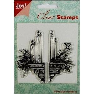 Joy!Crafts / Jeanine´s Art, Hobby Solutions Dies /  Transparante Postzegels: kaarsen decoratie