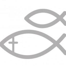 Spellbinders und Rayher Stanz- und Prägeschablone: fische kommunion