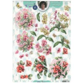 Bilder, 3D Bilder und ausgestanzte Teile usw... A4, hoja de perforación, Flores
