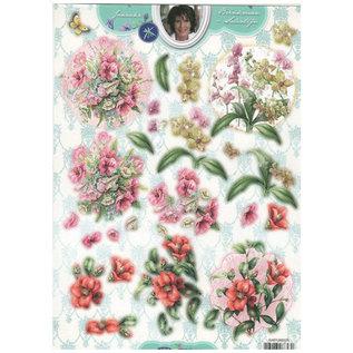 Bilder, 3D Bilder und ausgestanzte Teile usw... A4, punching sheet, Flowers
