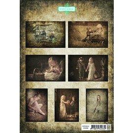 A4, Bilderbogen: niños2 Vintasia-serie