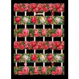 Bilder, 3D Bilder und ausgestanzte Teile usw... A5, scraps with glimmer Flowers