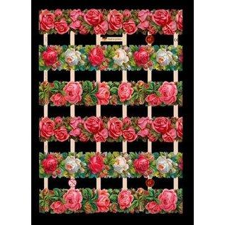 Bilder, 3D Bilder und ausgestanzte Teile usw... A5, kladjes met glimmer Bloemen