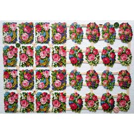 Bilder, 3D Bilder und ausgestanzte Teile usw... A5, des morceaux avec des fleurs
