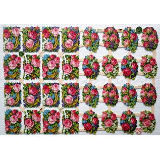 Bilder, 3D Bilder und ausgestanzte Teile usw... A5, scraps with flowers