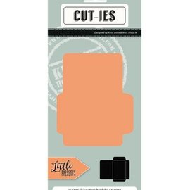 CUTIES Troquelado y estampado en relieve plantilla: Mini Envelope