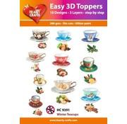 Embellishments / Verzierungen Facile Toppers 3D: tazze d'epoca