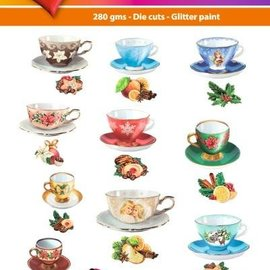Embellishments / Verzierungen Facile 3D Toppers: teacups Vintage