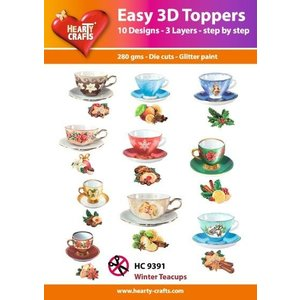 Embellishments / Verzierungen Easy 3D Toppers: Vintage teacups