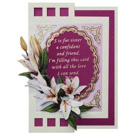 STICKER / AUTOCOLLANT Decorative frame with text in English