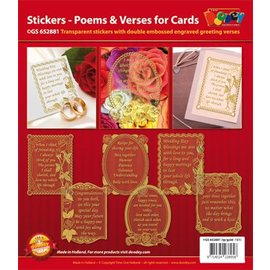 STICKER / AUTOCOLLANT Decorative frame with poems in English