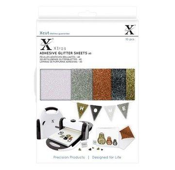 A5 Adhesive Glitter Sheets (10 stk.) Metallics