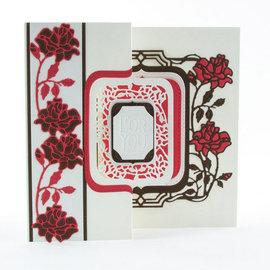 Tonic Studio´s estampación y embutición de carpetas: Flip Flop, Caballete y marco con rosas