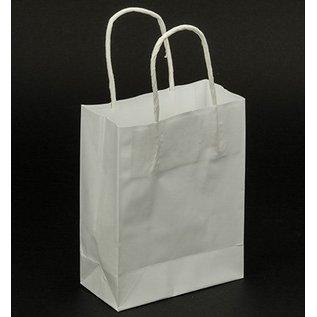 BASTELZUBEHÖR, WERKZEUG UND AUFBEWAHRUNG Paper bags, white, 5 pieces