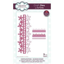 CREATIVE EXPRESSIONS und COUTURE CREATIONS Ponsen en embossing sjabloon: Borders