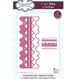 CREATIVE EXPRESSIONS und COUTURE CREATIONS cutting and embossing template: Romantic border