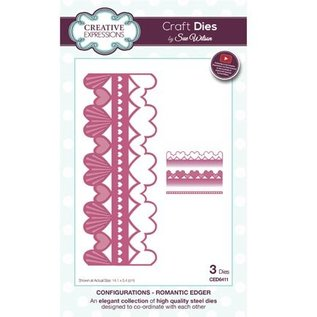 CREATIVE EXPRESSIONS und COUTURE CREATIONS Snij en embossing mall: border romance
