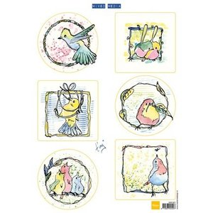 Marianne Design Bilderbogen, cute little birds