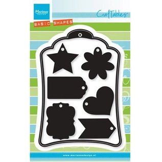 Marianne Design Punching and embossing template: 6 decorative labels +1 XL Label