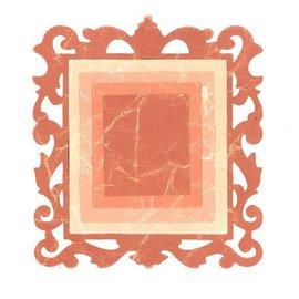 Sizzix Stempling og prægning mappe SET: 3 rektangler og en dekorativ ramme