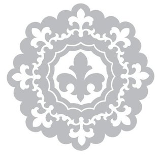 Sizzix Stempelen en embossing folder SET: 3 Rond sierlijst