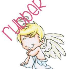 C.C.Designs Gummi Stempel: Angel love