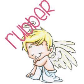 C.C.Designs Rubber stamp: Angel love