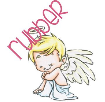C.C.Designs Rubber stamp: Angel amour