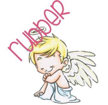 C.C.Designs Rubber zegel: Angel love
