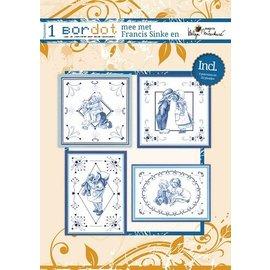 Bücher, Zeitschriften und CD / Magazines Hobby boek met 8 Borduurpatronen: Delfsblauw